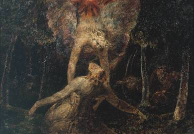 The Agony in the Garden circa 1799-1800 by William Blake 1757-1827