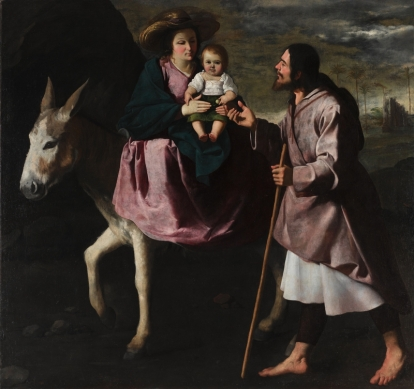 Zurbarán,_The_Flight_into_Egypt,_late_1630s._Oil_on_canvas,_Seattle_Art_Museum